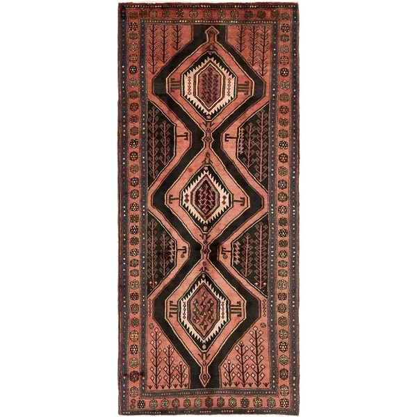 Hand Knotted Sirjan Semi Antique Wool Runner Rug - 4' 3 x 10' 2