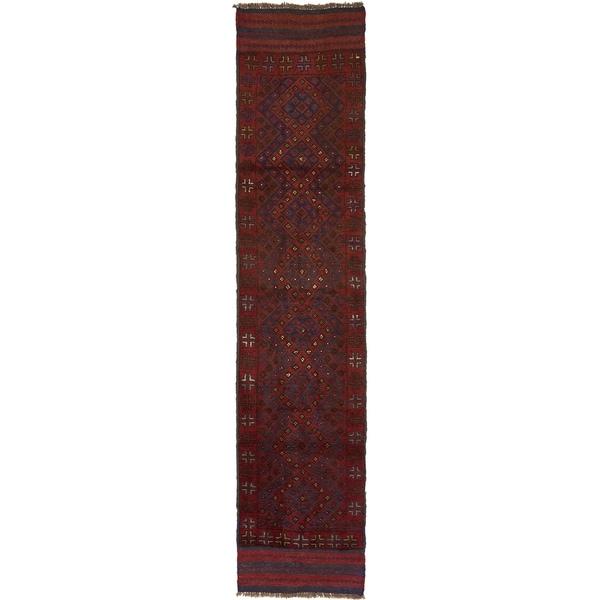 Hand Woven Sumak Wool Runner Rug - 2' x 8' 10