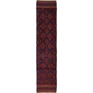 Hand Woven Sumak Wool Runner Rug - 2' 1 x 8' 8