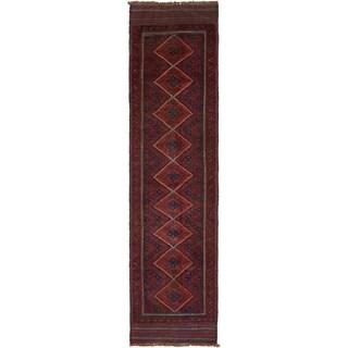 Hand Woven Sumak Wool Runner Rug - 2' x 7' 10