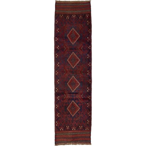 Hand Woven Sumak Wool Runner Rug - 2' 2 x 8'