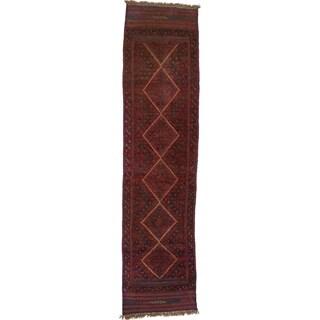 Hand Woven Sumak Wool Runner Rug - 1' 10 x 7' 9