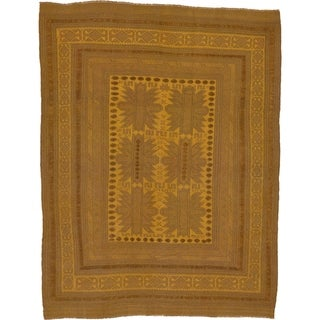 Hand Woven Sumak Wool Area Rug - 6' 4 x 8' 3