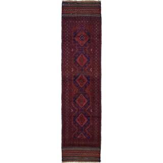 Hand Woven Sumak Wool Runner Rug - 2' 1 x 8' 6