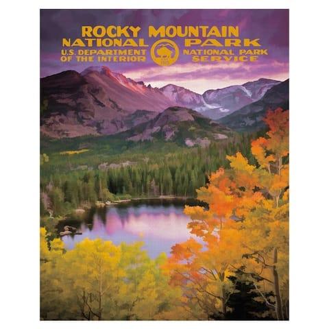 Fine Art canvas Rocky Mountain National Park Poster by Purple Moose Basics Canvas Art Print