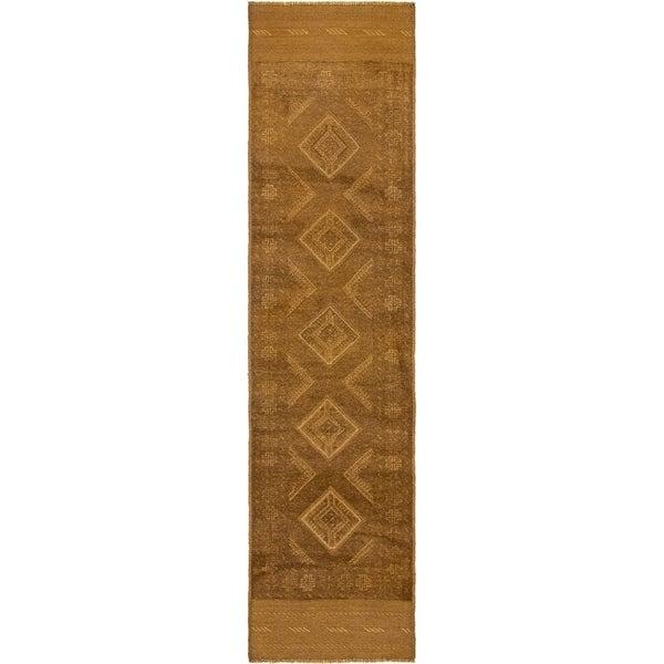 Hand Knotted Sumak Wool Runner Rug - 2' 2 x 8' 8