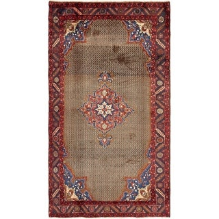 Hand Knotted Songhor Semi Antique Wool Area Rug - 5' x 8' 10