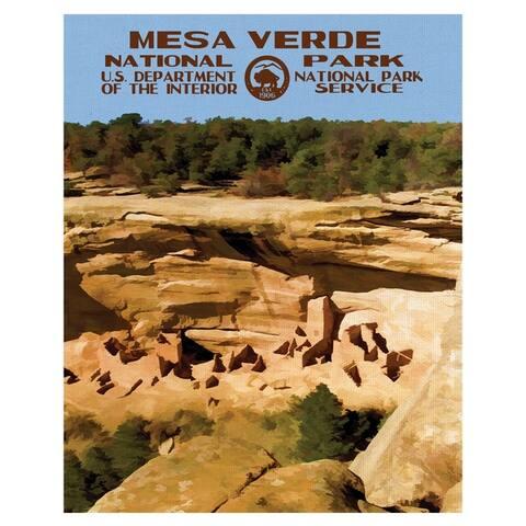 Fine Art canvas Mesa Verde National Park Poster by Purple Moose Basics Canvas Art Print