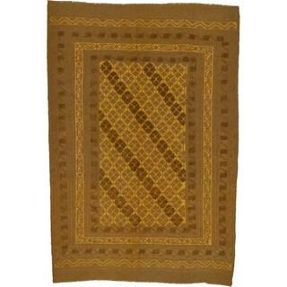 Hand Woven Sumak Wool Area Rug - 6' x 8' 9