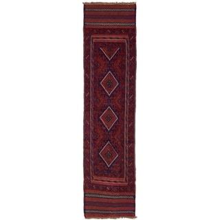 Hand Woven Sumak Wool Runner Rug - 1' 11 x 8'
