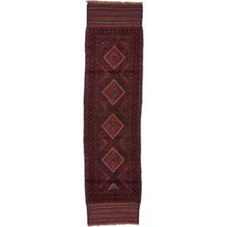Hand Woven Sumak Wool Runner Rug - 2' 2 x 8' 2