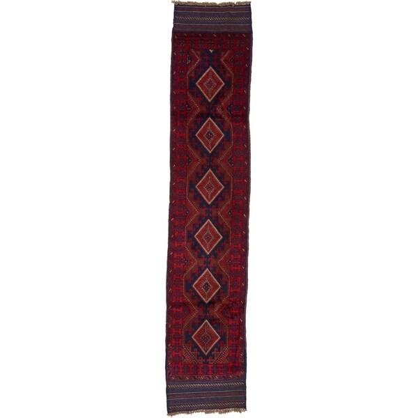 Hand Woven Sumak Wool Runner Rug - 1' 9 x 8' 10