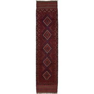 Hand Woven Sumak Wool Runner Rug - 2' x 8' 3