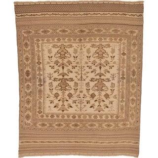 Hand Woven Sumak Wool Area Rug - 6' 8 x 8' 2