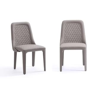 Modrest Slate Modern Grey Dining Chair (Set of 2)