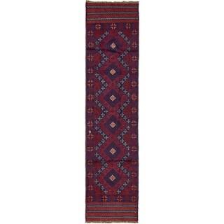 Hand Woven Sumak Wool Runner Rug - 2' x 8' 2