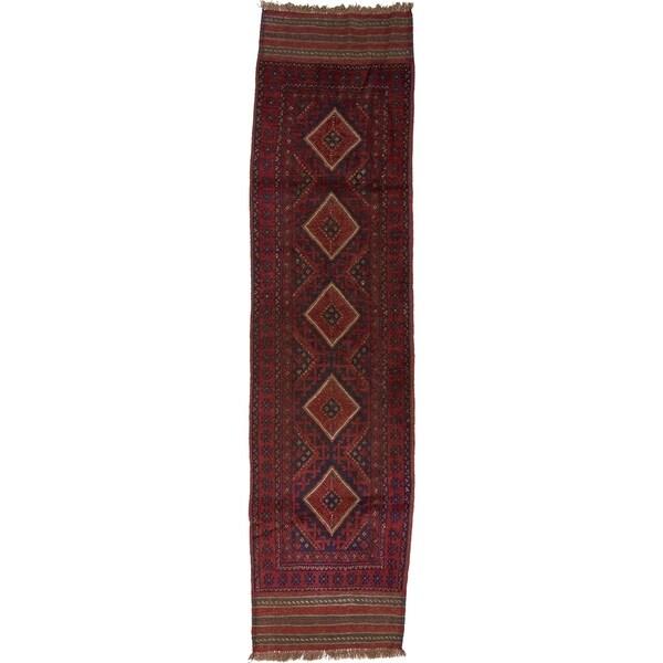 Hand Woven Sumak Wool Runner Rug - 2' 2 x 8' 4