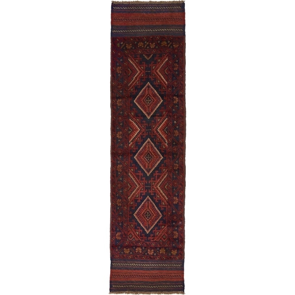Hand Woven Sumak Wool Runner Rug - 2' x 8'