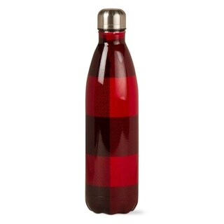 TAG Buffalo Check Stainless Steel Bottle Red