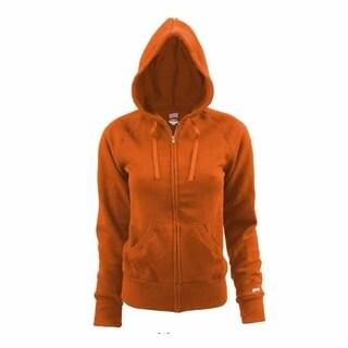 Soffe Youth Rugby Zip Hoodie Orange Large