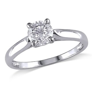 Moissanite by Miadora 14k White Gold 1/2ct TGW Moissanite Solitaire Engagement Ring