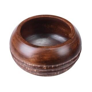 "Villacera Handmade 10"" Mango Wood Round Decorative Bowl"