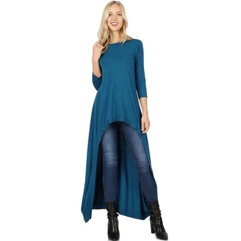 JED Women's 3/4 Sleeve Maxi Tunic Top
