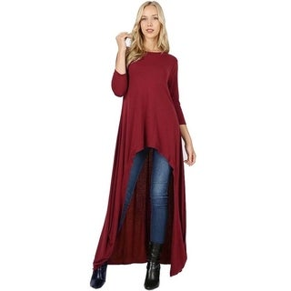 JED Women's 3/4 Sleeve Maxi Tunic Top