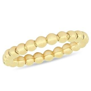 Miadora 18k Yellow Gold Stackable & Flexible Beaded Ring