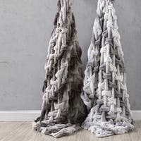 """Amrapur Overseas Faux Fur Reverse To Flannel Throw - 50"""" x 60"""""""