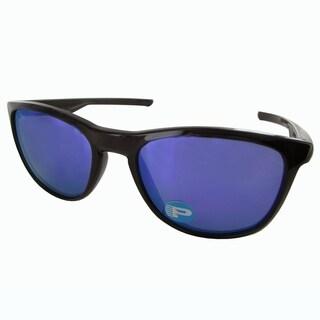 Oakley Mens Trillbe X Polarized Sunglasses, Polished Black Ink/Violet Iridium - polished black ink / violet iridium polarized