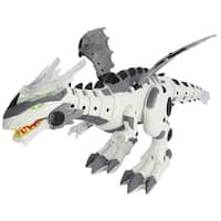 Battery Operated Walking Dinosaur Dragon Robot Robotic Dino with Head Movement, Tail Swinging Action, Lights, Sounds and More!