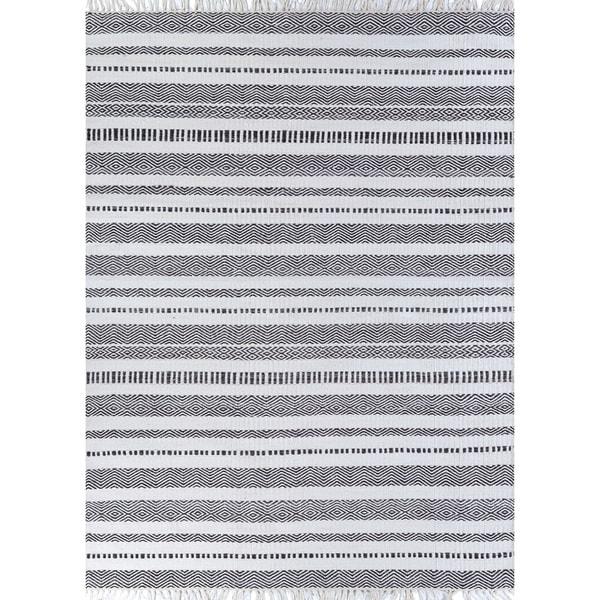 Fjord Cohansey Dark Gray Indoor/Outdoor Area Rug - 5' x 8'