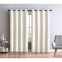 Porch & Den Dorchester Faux Silk Grommet Curtain Panel