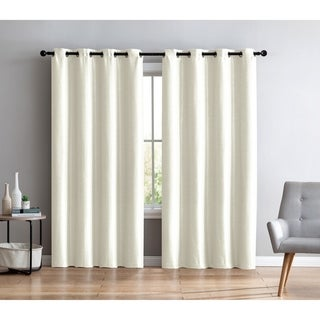 VCNY Home Sonia Faux Silk Grommet Curtain Panel