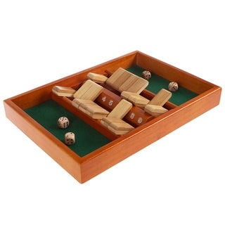Link to Shut The Box Game-Classic 9 Number Wooden Set with Dice by Hey! Play! Similar Items in Building Blocks & Sets