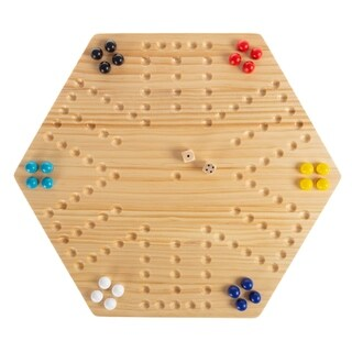 Classic Wooden Strategic Thinking Game-Complete Set with Board Hey! Play