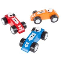 Toy Wooden Racecars Set Hey! Play!