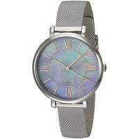 Fossil Women's ES4322 Jacqueline Silver Dial Stainless Steel Mesh Bracelet Watch
