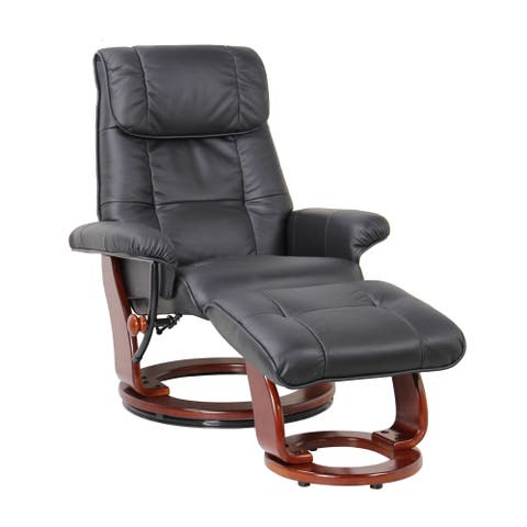 Copper Grove Gratien Leather Recliner and Ottoman