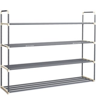 Shoe Rack with 4 Shelves-Four Tiers for 24 Pairs Home-Complete