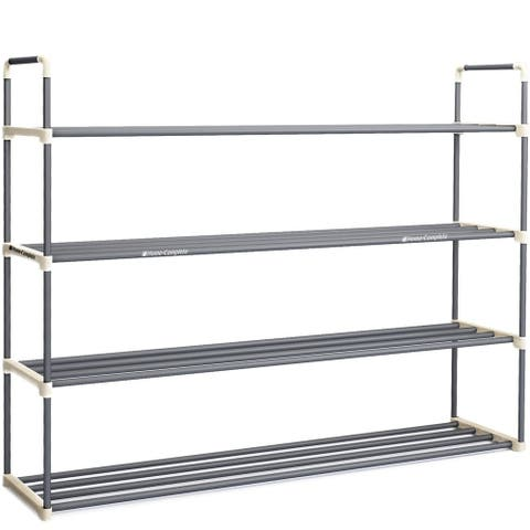 Shoe Rack with 4 Shelves-Four Tiers for 24 Pairs Home-Complete - 4-Tier