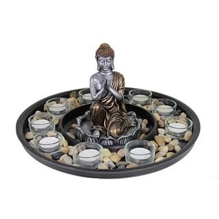 Essential Decor & Beyond Mesa Verde Buddha Tealight Holder EN14187 - 12.25 x 12.25 x 5