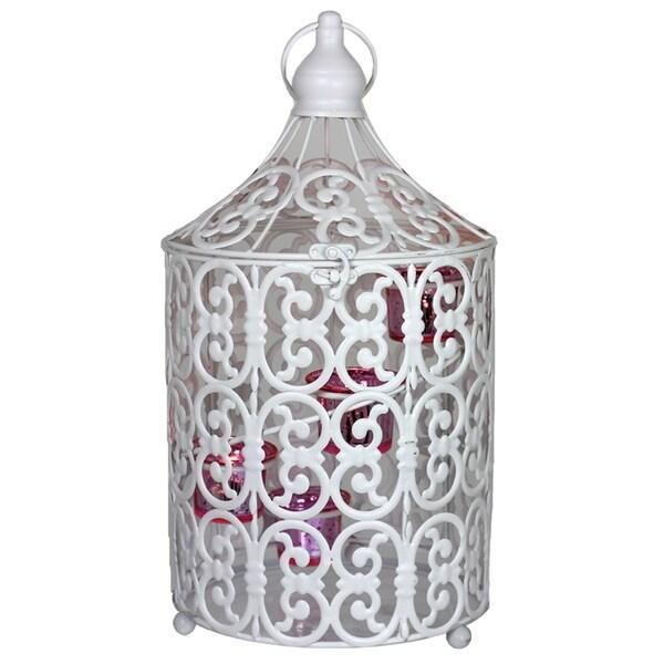 Essential Decor & Beyond Bird Cage Metal Lantern EN110355 - 16 x 8.5 x 8.5