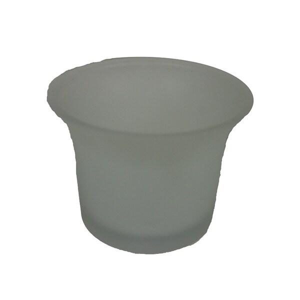 Essential Decor & Beyond Glass Tealight Holder EN14046 - 2.25 x 2.52 x 1.85