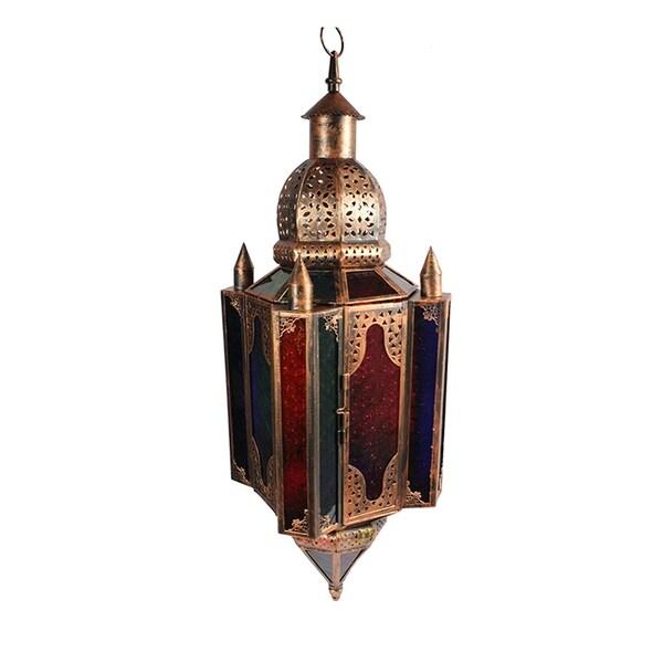 Essential Decor & Beyond Antique Metal Lantern EN110877 - 28.5 x 9.5 x 9.5