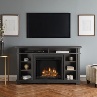 Real Flame Belford Grey Glass/Metal/MDF Electric Fireplace