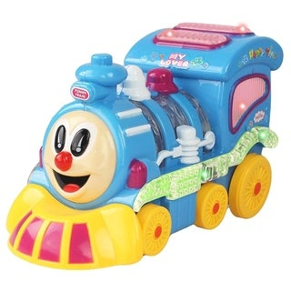 Battery Operated Bump and Go Choo Choo Train with Lights and Music for Children