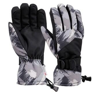Mens Winter Touchscreen Waterproof Thinsulate Lining Ski Gloves