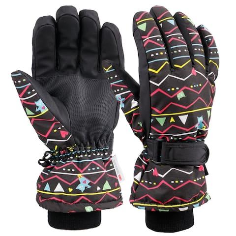 Womens Touchscreen Waterproof Windproof Snow Ski Gloves